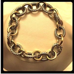 David Yurman Jewelry - David Yurman Oval Link Bracelet with Gold