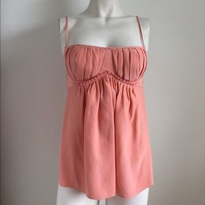 Black Halo Tops - NWT! Black Halo Pink Bustier Tank!