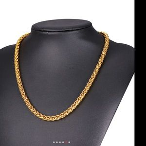 Other - New 9mm 18k gold chain for men