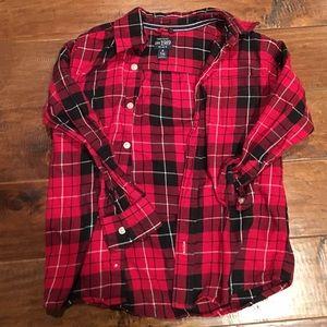 Children's Place Other - Boys Plaid Button Up
