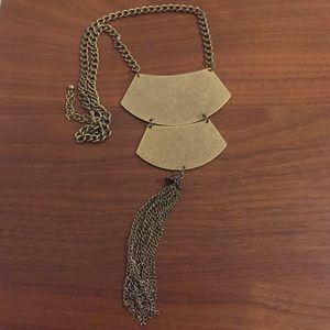 Jewelry - Brass plate tassel necklace