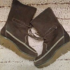 2Chillies Shoes - Kors Brown Suede Boots