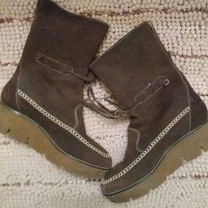 Kors Brown Suede Boots