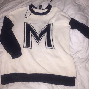Black/White knit sweater
