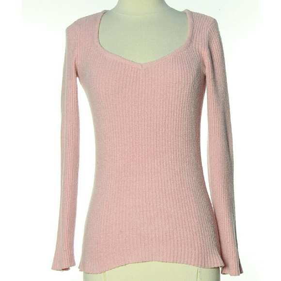 INC International Concepts Sweaters - Pink Sweater Ribbed Longsleeve Cozy Top Girly S