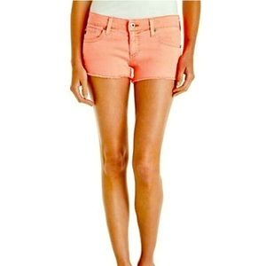 """AG Adriano Goldschmied Pants - AG """"The Dairy"""" Coral Cutoff Denim Short"""