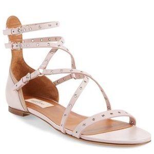 Valentino Shoes - VALENTINO LOVE 'LATGH' STRAPPY GROMMET SANDALS.
