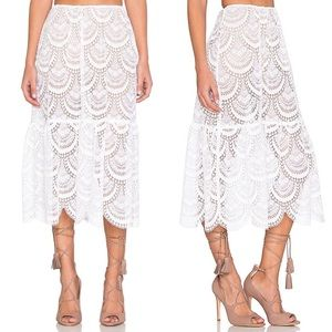 For Love and Lemons Dresses & Skirts - For Love & Lemons Rosalita Lace Skirt