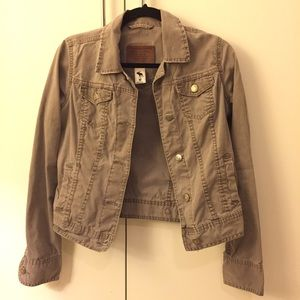 Abercrombie and Fitch Brown Olive Blazer
