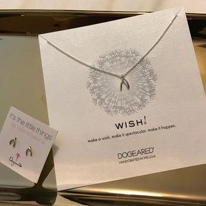 Dogeared Jewelry - It's the little things wishbone earrings