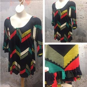 tla2 Tops - CUTE CHEVRON TUNIC