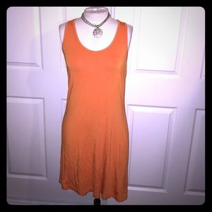 Sweet and Sexy Tangerine Calvin Klein knit Dress