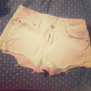 7 For All Mankind Pants - 7 for All Mankind White Cutoffs