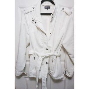 Jackets & Blazers - White Mid-Length Coat