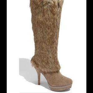 Fergie Shoes - Fergie Captive Faux Fur Lined Platform Heel Boot