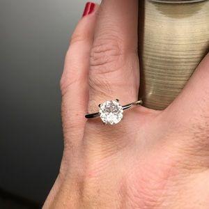 macys Jewelry - Cubic zirconia solitaire ring size 8