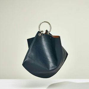 Zara Studio Leather maxi bucket bag (8027)