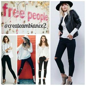 Free People Denim - Free People Destroyed Ankle Skinny Jeans