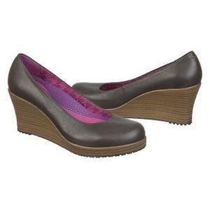 CROCS Shoes - Crocs Women's A-Leigh Closed Toe Wedge