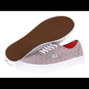 Vans Shoes - Vans Chambray Slim Shoes coral dot