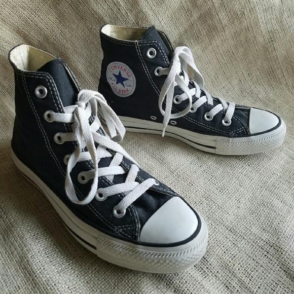 e5c281546ab Converse Shoes - Classic Black Converse High Top Canvas Shoes