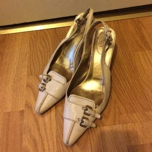 Prada leather kitten heels US SZ 7 European SZ 37
