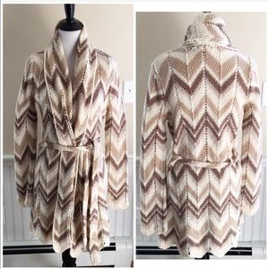 Lucky Brand Chevron Long Cardigan Sweater