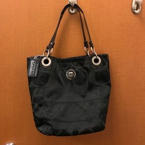 Authentic Coach bucket bag and matching wallet