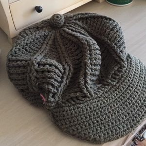 American Eagle Outfitters Accessories - Knitted Olive Hat