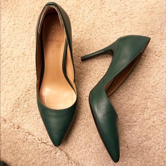 2562bc37b4 Banana Republic Shoes | Dark Green Pumps | Poshmark