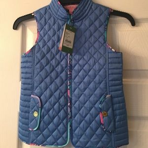 Lilly Pulitzer Other - Girls Lilly Pulitzer blue quilted vest