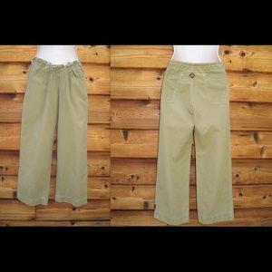 Prana Pants - Prana Drawstring Waist Cropped Cotton Nylon Pants