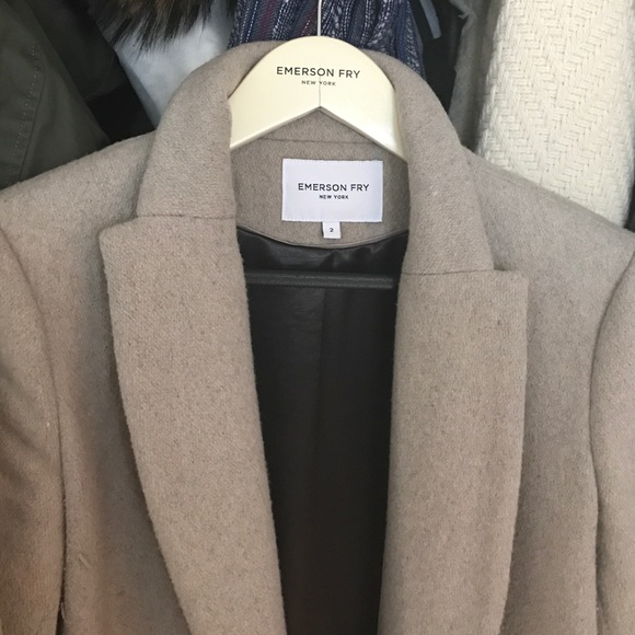 Emerson Fry Jackets & Coats - Emerson Fry Tailored Wool Coat in Fawn Wool, 2