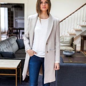 Emerson Fry Jackets & Blazers - Emerson Fry Tailored Wool Coat in Fawn Wool, 2