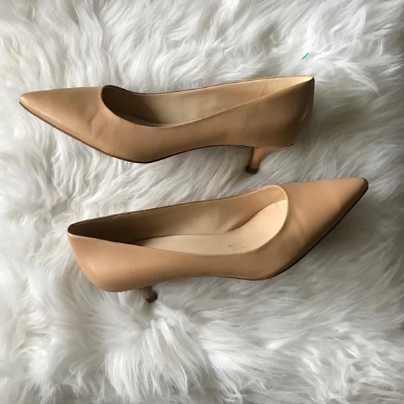 303cc064b8 Nude Nine West Kitten Heel Shoes. M_587ce5132fd0b79f090d6c28