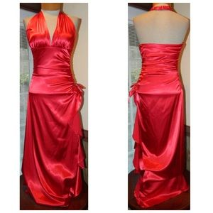 Blondie Nites Dresses & Skirts - Red Halter Gown