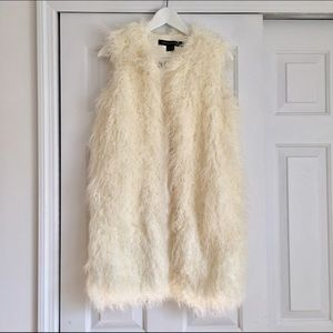 French Connection Faux Fur Long Vest