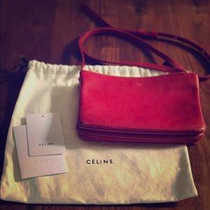 Celine Handbags - Red Celinè Trio