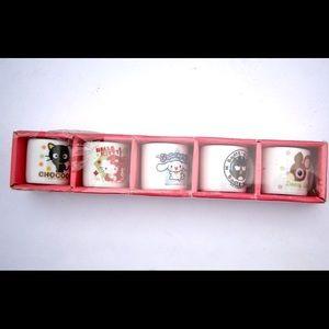 Sanrio Kawaii Miniature Teacup Set Of 5 Characters