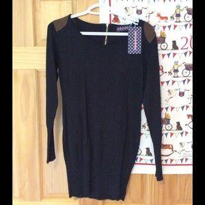 Black & brown body con sweater dress!