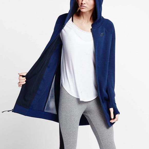 92530bc02d6e Nike Tech Fleece Mesh Cocoon Sweatshirt