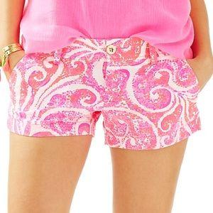 NWT lilly Pulitzer Walsh shorts pink pout PBJ