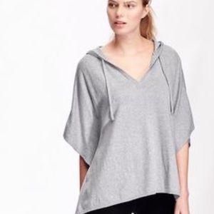 Old Navy Sweaters - Black Dolman Sleeve hooded poncho