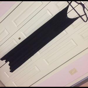 Dresses & Skirts - Long black fringe maxi dress