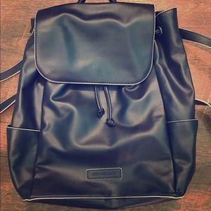 Navy leather Vera Bradley backpack