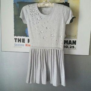 Justice Other - Girls-Grey/Silver rhinestone sweater dress
