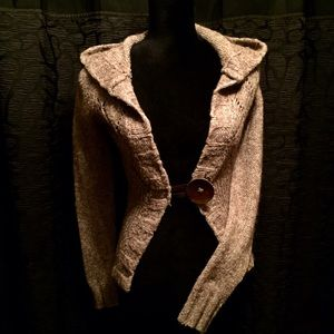 Free people knit cropped cardigan sweater S