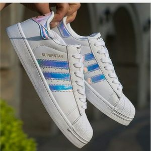 Adidas Shoes - Addidas Superstar Rare holographic sneakers