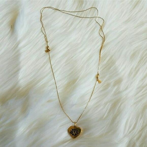 Alex And Ani Jewelry Gold Lotus Flower Necklace Poshmark