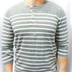 Vince Other - Vince Breton Henley stripe cotton sweater Large